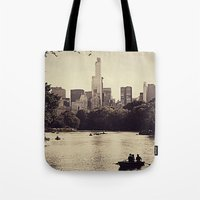 central park Tote Bags featuring Central Park by C Liza B