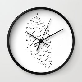 Sugar Pine Cone Wall Clock
