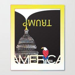 Trump Trumpet Prophetic Political Comic - Night Canvas Print