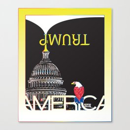 Trump Trumpet Prophetic Political Comic - Night Canvas Print