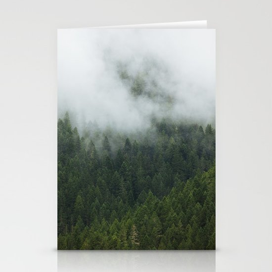 Tree Fog Stationery Cards