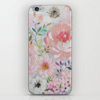 craftberrybush iPhone & iPod Skins featuring Acrylic rose garden  by craftberrybush