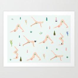 Yogini Cactus Art Print