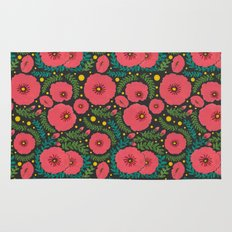 The Beautiful Pink Flowers Rug