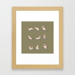 Labrador Retriever Yoga Framed Art Print