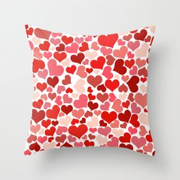 Loveheart Pattern - Romantic Love Patterns - Gift of Love Throw Pillow