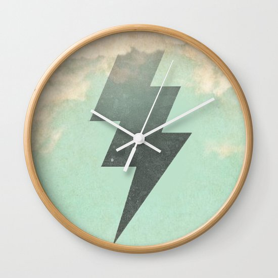 Bolt from the Blue Wall Clock