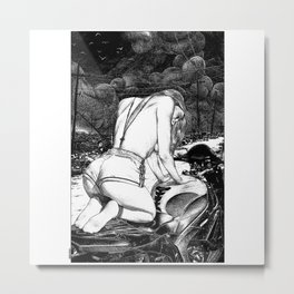 asc 842 - La Zone (Prayer to the gods of mechanics) Metal Print