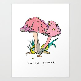fungal growth by 12fv Art Print
