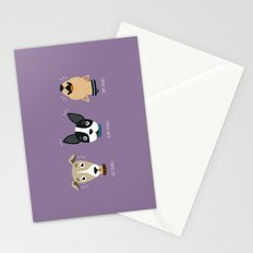 Three wise dogs Stationery Cards