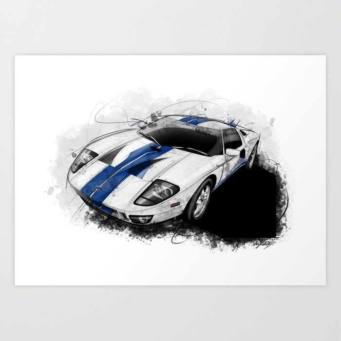 Ford Gt Art Print