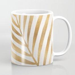 Metallic Gold Palm Leaf Coffee Mug