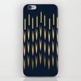 Navy Cattail iPhone Skin