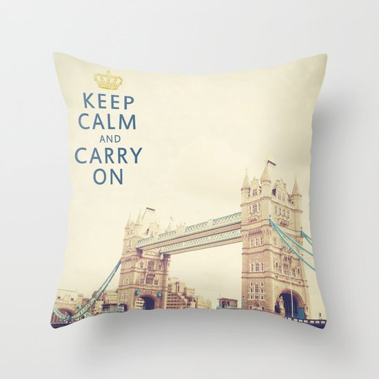 Keep Calm London Throw Pillow