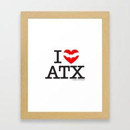 I Heart Austin Framed Art Print
