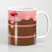 pie Mugs featuring Pie by Rejdzy