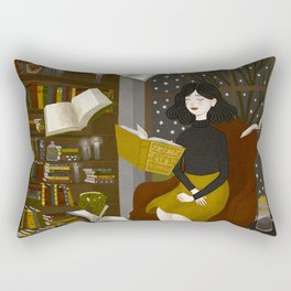floating books Rectangular Pillow