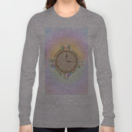 Time goes around Earth , or Earth goes around Time. Long Sleeve T-shirt