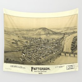 Aerial View of Patterson (Mifflin), Pennsylvania (1895) Wall Tapestry