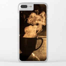 Afternoon Cup Of Coffee! Clear iPhone Case
