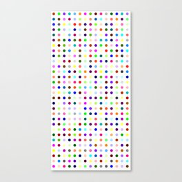 Big Hirst Polka Dot Canvas Print