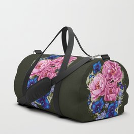 pinky and blue flowers Duffle Bag