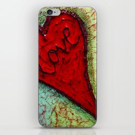 red heart of love by Swade Art iPhone Skin