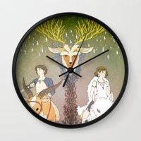 mononoke Wall Clocks featuring Mononoke Hime by Lady Sugar
