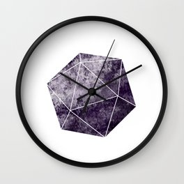Purple d20 Dice Wall Clock