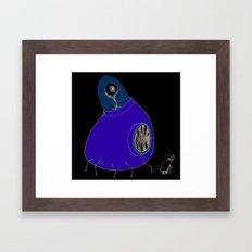 Monster and Grandma Framed Art Print