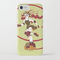 roller derby iPhone & iPod Cases featuring Roller Derby Kicks Ass by Luckyirishlass