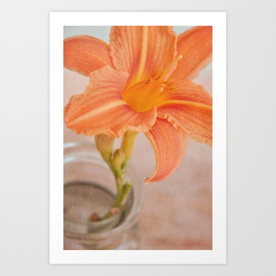 lily orange Art Print