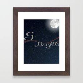 gNight Framed Art Print