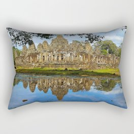 Angkor Thom Temple Cambodia Rectangular Pillow