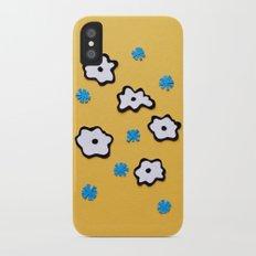 Dutch Flowers on Yellow Slim Case iPhone X