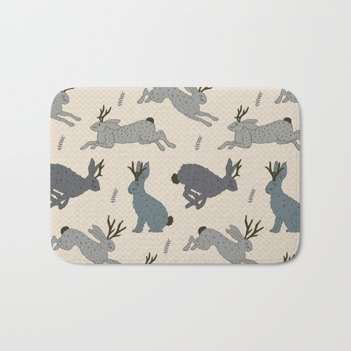 Jackalope Snow Parade Bath Mat