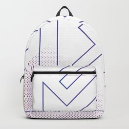 Abstract purple art modern geo Backpack