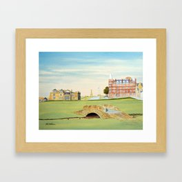 St Andrews Golf Course 18th Hole Framed Art Print