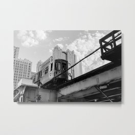Chicago Train Pass Over Metal Print