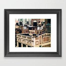 Midtown Water towers Framed Art Print