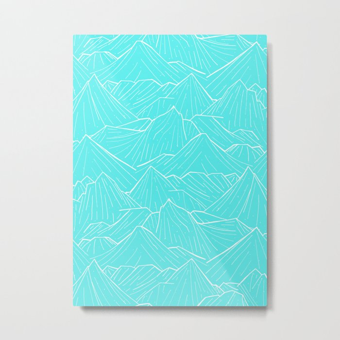 The Cold Blue Metal Print