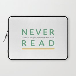 Never read Laptop Sleeve