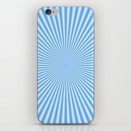 64 Baby Blue Rays iPhone Skin