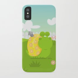 Green Snail (male) iPhone Case