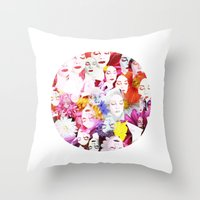 ultraviolence Throw Pillows featuring Ultraviolence by Kat Heroine