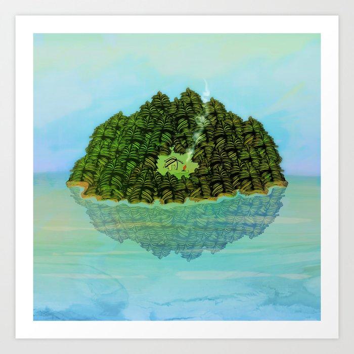 GREENERY HOME / Nature Art Print