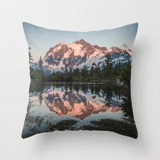 Cascade Sunset - Mt. Shuksan Throw Pillow