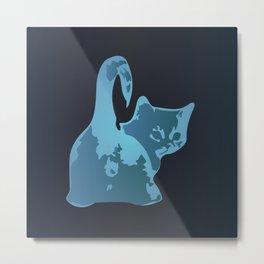 Cat Blues Metal Print