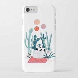 Cat and cacti iPhone Case