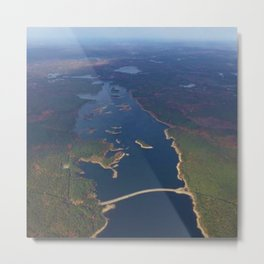 Scituate Reservoir and Islands Skyview - Scituate, Rhode Island Metal Print
